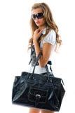 Modelo de forma com saco grande. Fotografia de Stock