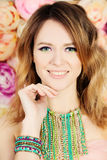 Modelo de forma da mulher composição hairstyle Imagem de Stock