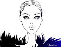 Modelo de forma do vetor Face da beleza ilustração do vetor