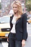 Modelo de forma Edita Vilkeviciute durante a semana de moda de New York Imagens de Stock Royalty Free