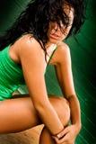 Modelo de forma fêmea do nativo americano fotos de stock