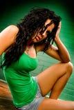Modelo de forma fêmea do nativo americano Imagens de Stock Royalty Free