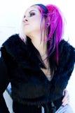 Modelo de forma gótico do punk Fotografia de Stock