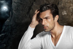 Modelo de forma masculino Fotografia de Stock