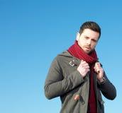 Modelo de forma masculino com revestimento do inverno Foto de Stock Royalty Free