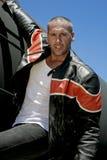 Modelo de forma masculino no trem Imagens de Stock Royalty Free