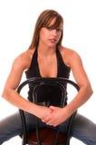 Modelo de forma na cadeira Fotos de Stock