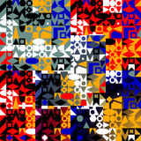Modelo de formas geométricas coloridas Fotografía de archivo libre de regalías
