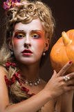 Modelo de Halloween fotos de stock royalty free