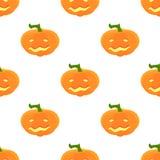 Modelo de Halloween con las calabazas y las caras Imagen de archivo