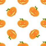 Modelo de Halloween con las calabazas y las caras Fotografía de archivo libre de regalías