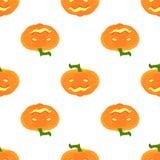 Modelo de Halloween con las calabazas y las caras Fotos de archivo libres de regalías