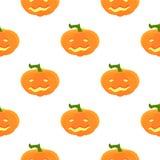 Modelo de Halloween con las calabazas y las caras Imágenes de archivo libres de regalías
