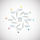 Modelo de Infographic Fotografía de archivo