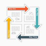 Modelo de Infographic Ilustración del vector Puede ser utilizado para la disposición del flujo de trabajo, diagrama, opciones del libre illustration