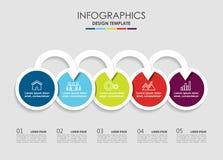 Modelo de Infographic Ilustración del vector Puede ser utilizado para la disposición del flujo de trabajo, diagrama, opciones del Fotos de archivo libres de regalías