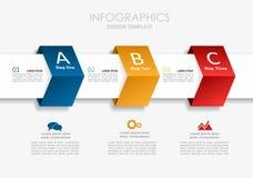 Modelo de Infographic Ilustración del vector Puede ser utilizado para la disposición del flujo de trabajo, diagrama, opciones del Fotos de archivo