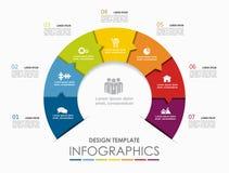 Modelo de Infographic Ilustración del vector Puede ser utilizado para la disposición del flujo de trabajo, diagrama, opciones del ilustración del vector
