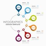 Modelo de Infographic Ilustración del vector Utilizado para la disposición del flujo de trabajo, diagrama, opciones del paso del  stock de ilustración