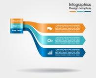 Modelo de Infographic puede ser utilizado para la disposición del flujo de trabajo, diagrama, opciones del paso del negocio, band Fotografía de archivo libre de regalías