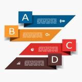 Modelo de Infographic puede ser utilizado para la disposición del flujo de trabajo, diagrama, opciones del paso del negocio, band Imagen de archivo libre de regalías
