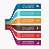 Modelo de Infographic puede ser utilizado para la disposición del flujo de trabajo, diagrama, opciones del paso del negocio, band Imagenes de archivo