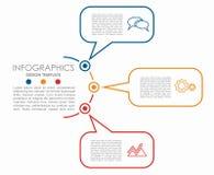 Modelo de Infographic puede ser utilizado para la disposición del flujo de trabajo, diagrama, opciones del paso del negocio, band Imagen de archivo