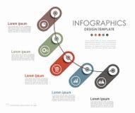 Modelo de Infographic puede ser utilizado para la disposición del flujo de trabajo, diagrama Fotos de archivo