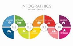 Modelo de Infographic puede ser utilizado para la disposición del flujo de trabajo, diagrama Imagenes de archivo