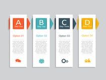 Modelo de Infographic puede ser utilizado para la disposición del flujo de trabajo, diagrama, opciones del paso del negocio, band Imágenes de archivo libres de regalías