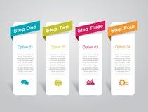 Modelo de Infographic puede ser utilizado para la disposición del flujo de trabajo, diagrama, opciones del paso del negocio, band Fotografía de archivo