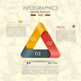 Modelo de Infographic puede ser utilizado para la disposición del flujo de trabajo, diagrama, opciones del paso del negocio, band libre illustration