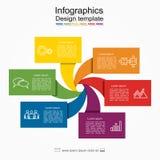 Modelo de Infographic puede ser utilizado para la disposición del flujo de trabajo, diagrama, opciones del paso del negocio, band Foto de archivo libre de regalías