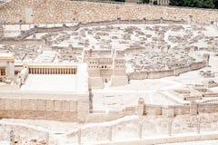 Modelo de Jerusalén antigua Fotos de archivo