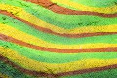 Modelo de líneas en un muro de cemento Fotos de archivo libres de regalías