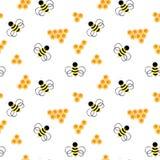 Modelo de la abeja Panal con la abeja Foto de archivo