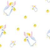Modelo de la acuarela del ángel de Pascua aislado libre illustration