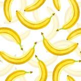 Modelo de la acuarela de los plátanos stock de ilustración