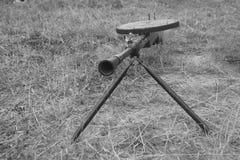 Modelo de la ametralladora imagenes de archivo