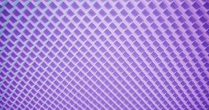 modelo de la animación de la representación 3D geométrico en textura de la arquitectura en forma de la caja del cubo con la luz y almacen de metraje de vídeo