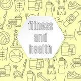Modelo de la aptitud y de la salud Foto de archivo