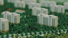 Modelo de la arquitectura del cuarto del condominio en ciudad Planeamiento urbano metrajes