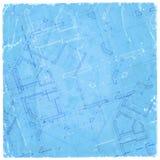 Modelo de la arquitectura - plan de la casa stock de ilustración