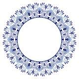 Modelo de la baldosa cerámica Ornamento redondo decorativo Backgroun blanco stock de ilustración