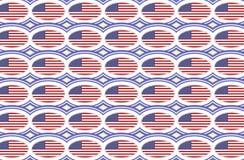 Modelo de la bandera americana stock de ilustración