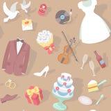 Modelo de la boda Imagenes de archivo