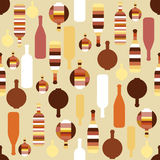 Modelo de la botella Papel pintado del diseño de la bebida del alcohol stock de ilustración