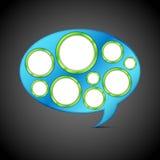 Modelo de la burbuja de la charla Imagen de archivo libre de regalías