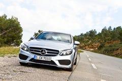 Modelo 2015 de la C-clase 2014 de Mercedes-Benz Foto de archivo libre de regalías