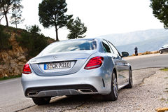 Modelo 2015 de la C-clase 2014 de Mercedes-Benz Imágenes de archivo libres de regalías